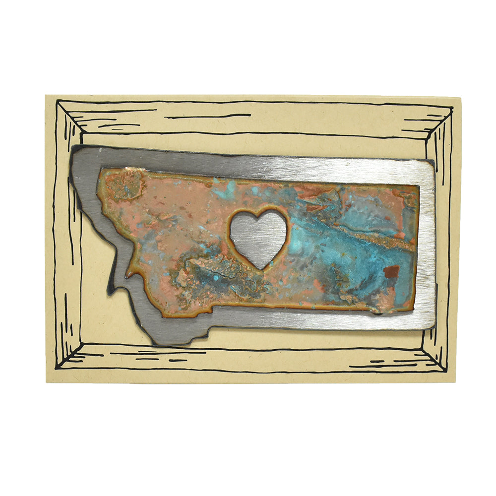 Rustic Patina Montana Magnet by H&K Studios at Montana Gift Corral