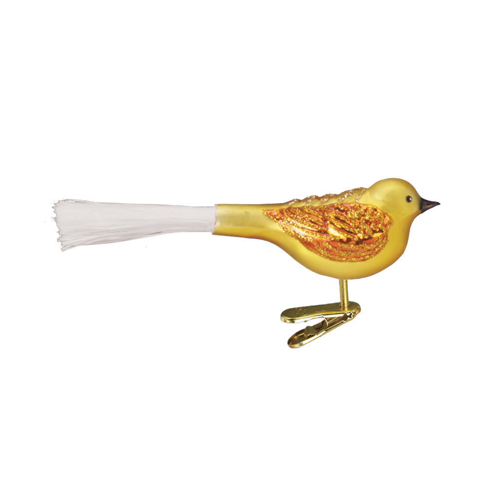 Fat Glitter Bird Ornament by Old World Christmas