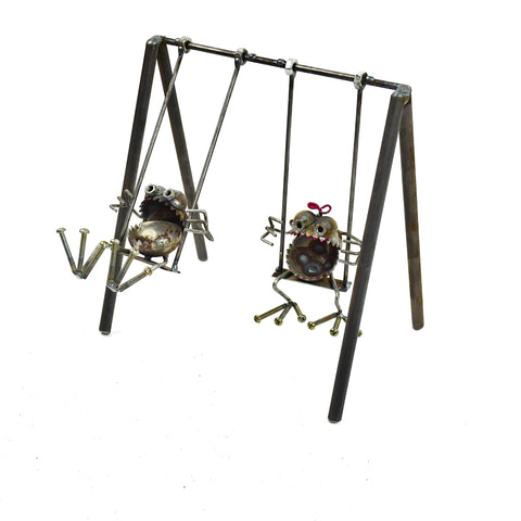 Gnome Be Gone Mini Swing Set by Sugarpost