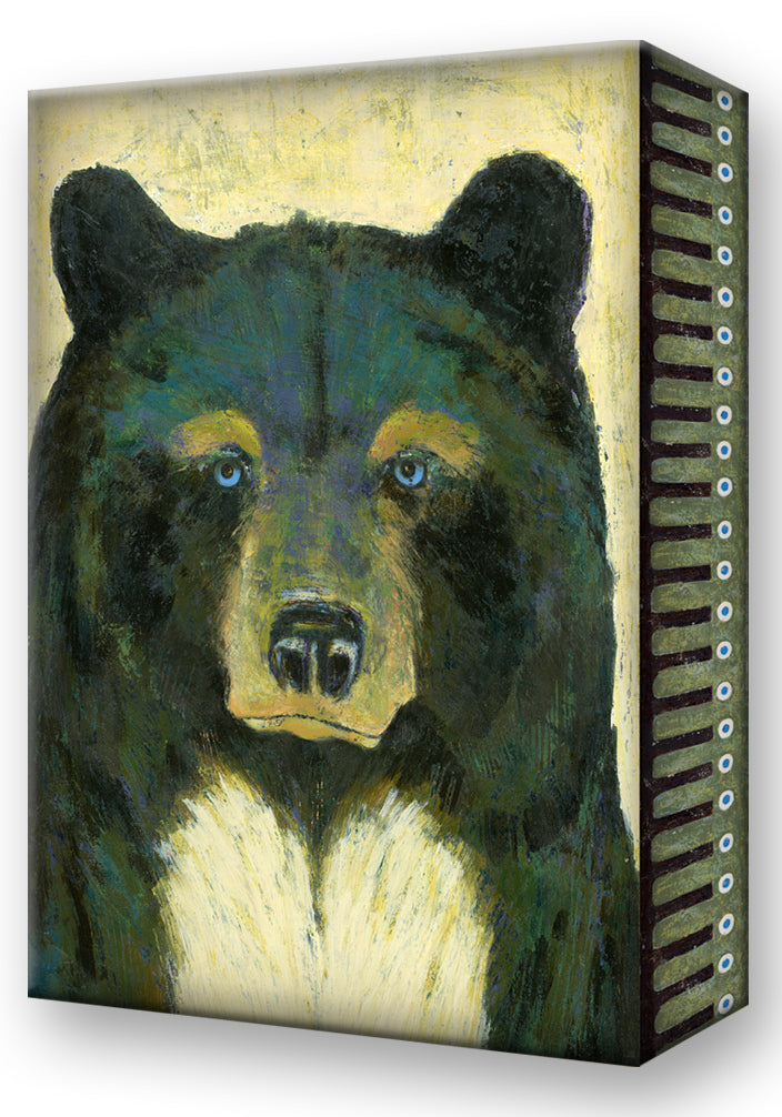 Shelle Lindholm Blue-Eyed Bear Metal Box Art