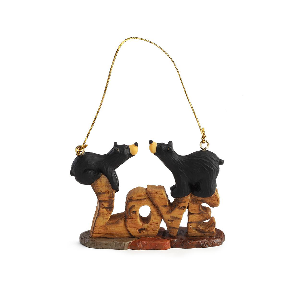 Bearfoots Love Bears Ornament by Big Sky Carvers