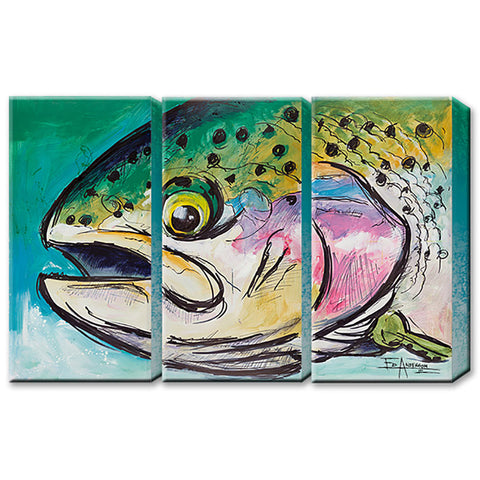Ed Anderson Rainbow Trout 3 Aluminum Panel by Meissenburg Designs