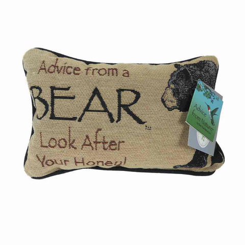 Advice from a Bear Pillow (front)