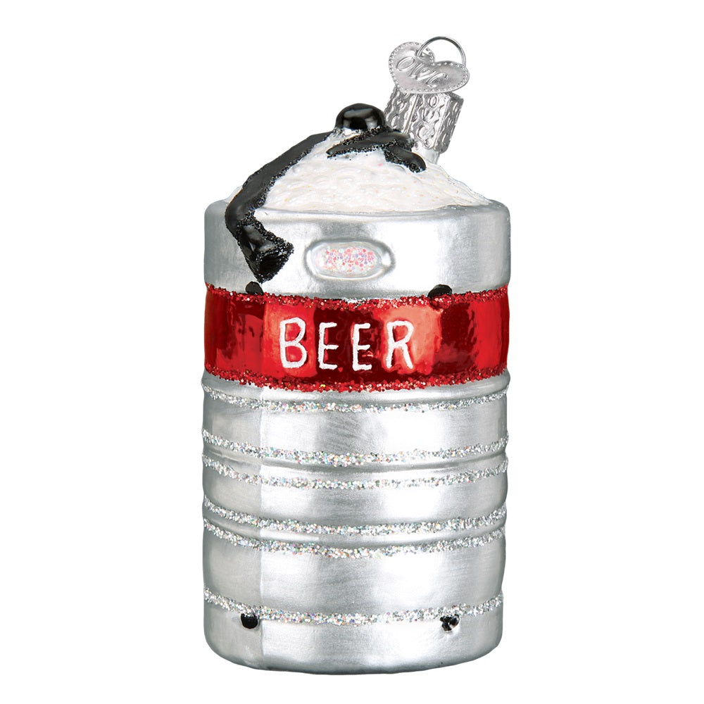 Aluminum Beer Keg Christmas Ornament by Old World Christmas at Montana Gift Corral