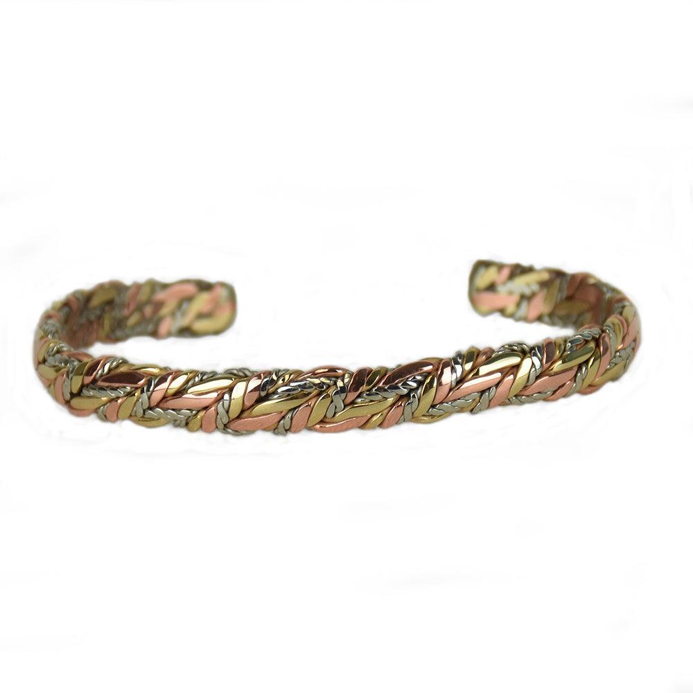 American Quilt Mixed Metal Bracelet by Sergio Lub Jewelry