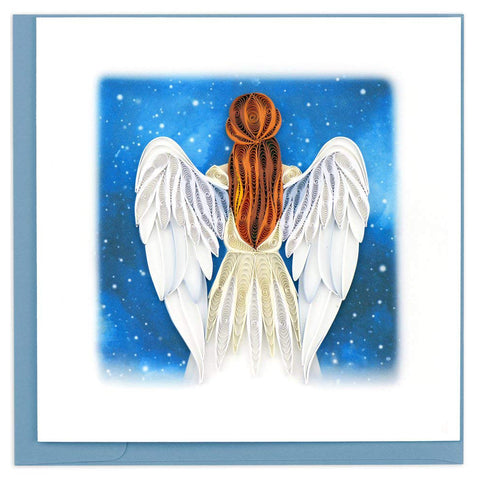 Angel Greeting Card by Quilling Card