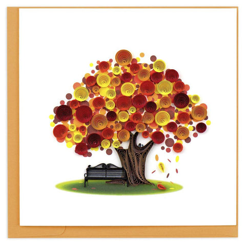 Autumn Tree Greeting Card by Quilling Card