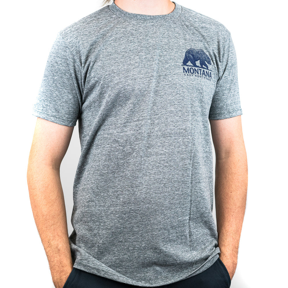 Graphite Blueprint Mountain Grizzly Montana T-Shirt