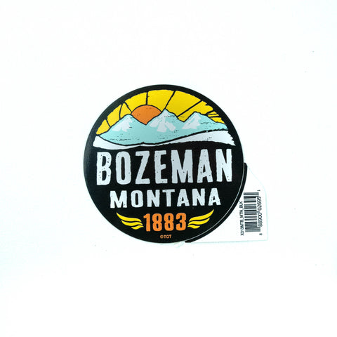 Bozeman Flashback Mountain Sticker by TGT