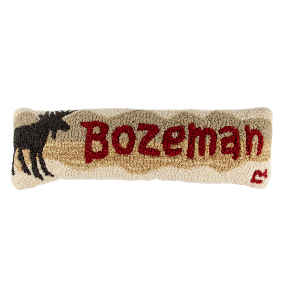 Show some of that good ol' Bozeman pride with your new favorite pillow. The Bozeman Moose Mountains Pillow by Chandler 4 Corners is simple yet distinctly designed to fit Bozeman's style!