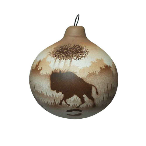 Back Country Buffalo Ornament