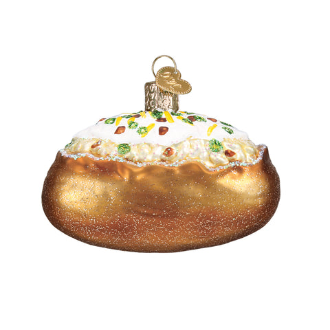 The Baked Potato Christmas Ornament by Old World Christmas is a perfect gift for any home cookin' mama! Butter, chives, sour cream and bacon, Christmas just got a whole lot tastier!
