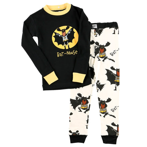 Bat Moose PJ Set by Lazy One