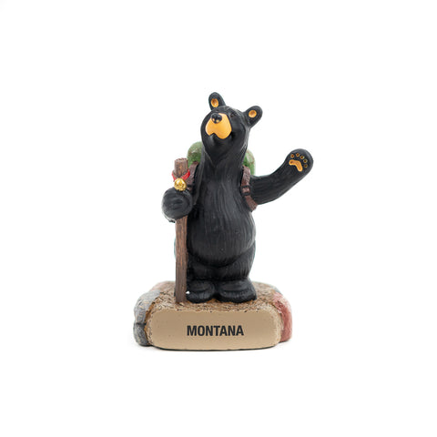 Bearfoots Bear Bell Hiker Figurine by Jeff Fleming and Demdaco