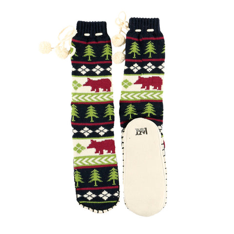 Bear Fair Isle Mukluk Slippers by Lazy One