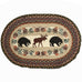 Bear Moose Oval Patch Rug by Capitol Earth Rugs
