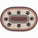 Bear Paw Oval Patch Rug by Capitol Earth Rugs