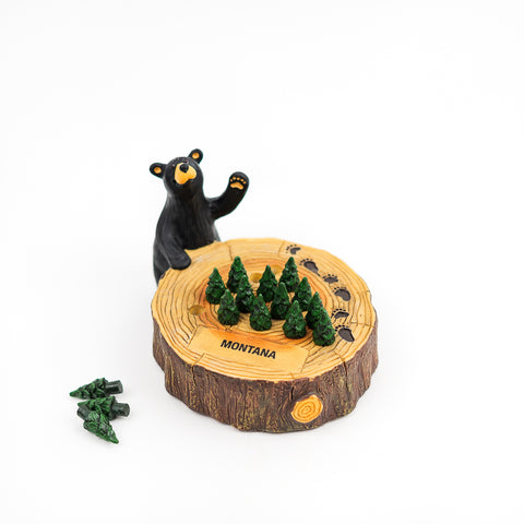The Bearfoots Montana Peg Game by Big Sky Carvers is a great fun way to pass the time.