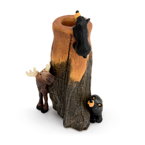 The Bearfoots Bear and Moose Bud Vase by Big Sky Carvers is a great gift for any Bearfoots collector or loved one who appreciates these cute little bears!