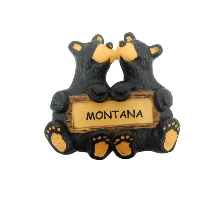 Bears Kissing Bearfoots Montana Ornament by Jeff Fleming