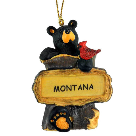 Bear with Robin Bearfoots Ornament by Jeff Fleming