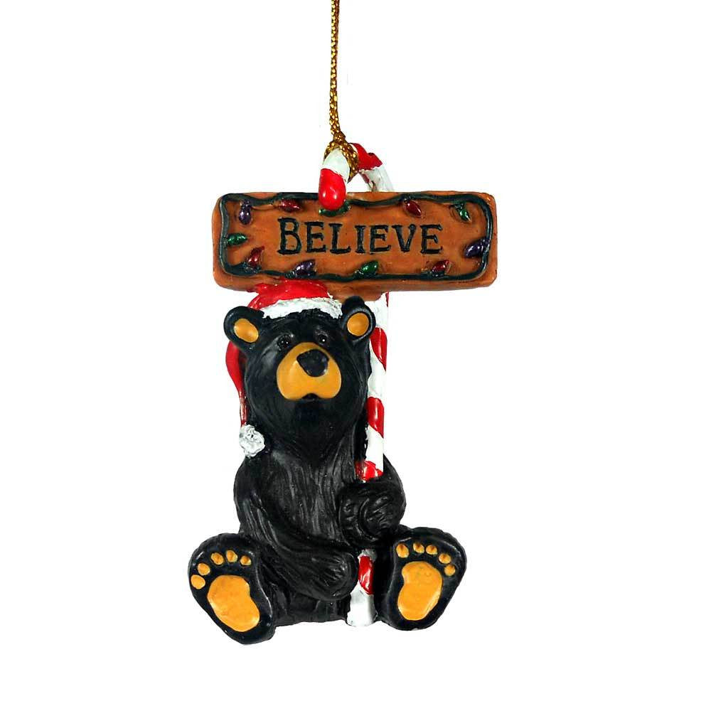 Believe Bear Bearfoots Ornament by Jeff Fleming