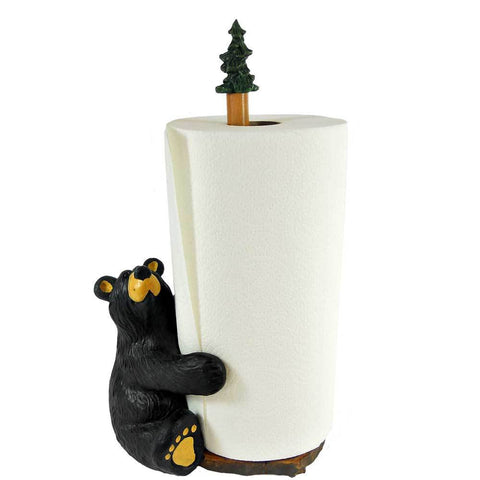 Bearfoot Brawnie Bruin Paper Towel Holder by Big Sky Carvers