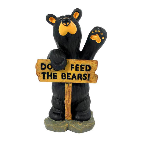 Bearfoots Don't Feed the Bears Mini Figurine by Big Sky Carvers