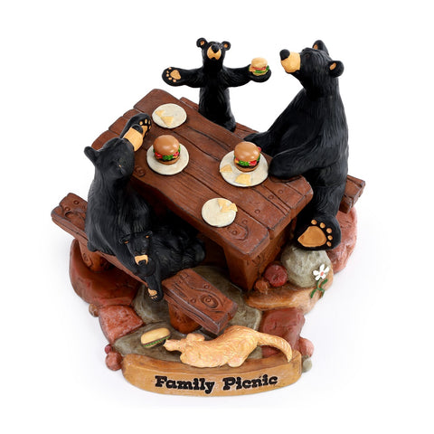 Bearfoots Family Picnic Figurine