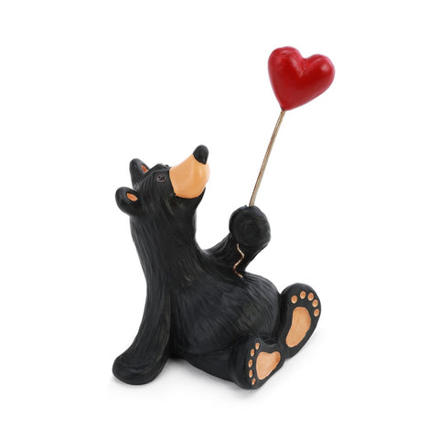 Bearfoots Give Love Mini Figurine by Big Sky Carvers designed by Jeff Fleming