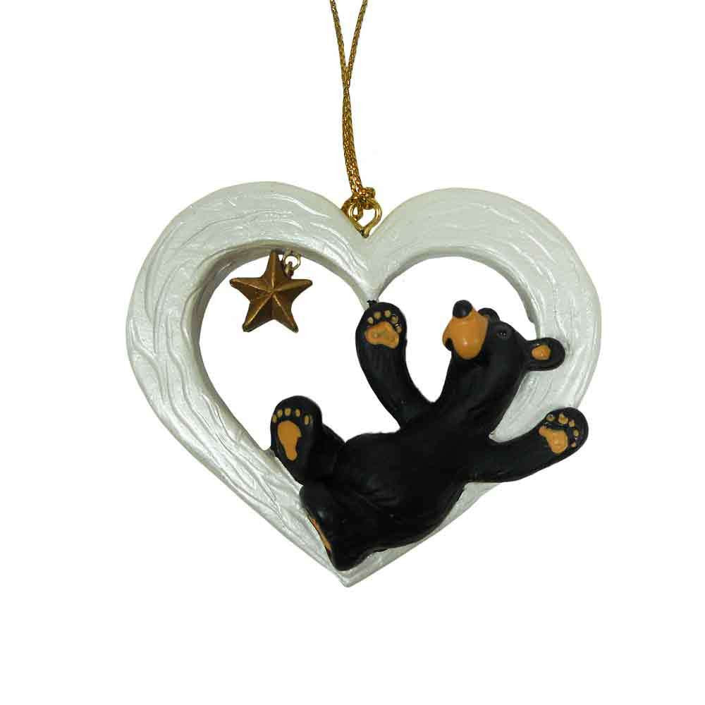 Bearfoots Gotta Have Heart Ornament by Big Sky Carvers