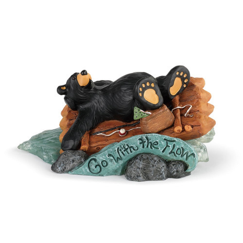 Bearfoots Go with the Flow Bear Figurine by Jeff Fleming from Big Sky Carvers and Demdaco