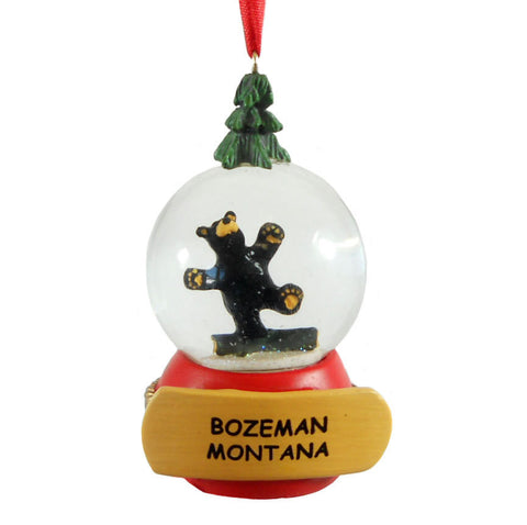 Bearfoots Hap Snow Globe Bozeman Ornament by Big Sky Carvers