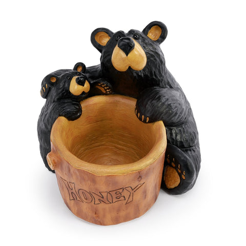 The Bearfoots Honey Bears Grand by Jeff Fleming is a great hand-cast bowl that is perfect for putting candy, chocolates or other goodies in!