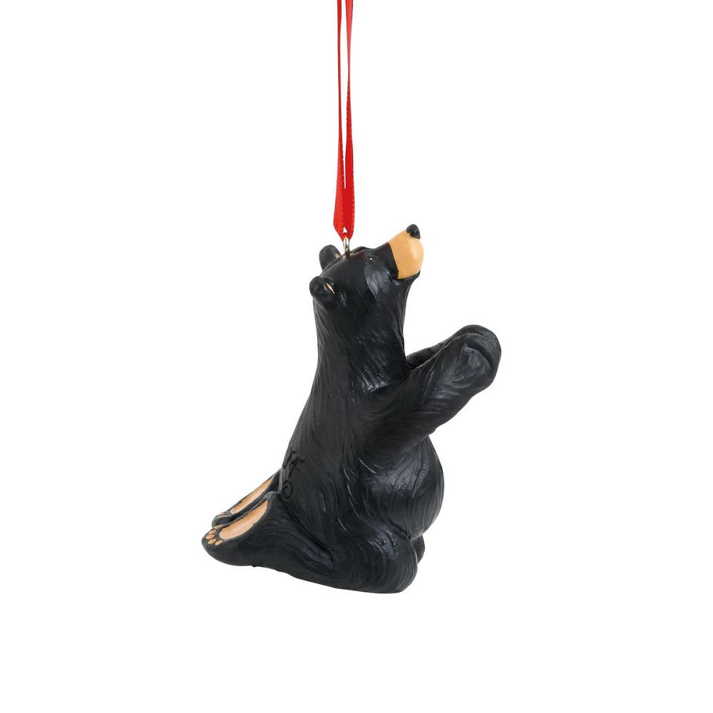Bearfoots Just Pray Bear Ornament by Jeff Fleming from Big Sky Carvers Christmas Collection at Montana Gift Corral