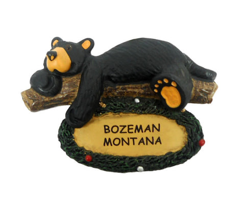 Bearfoots Lazy Bear Wreath Bozeman Ornament by Big Sky Carvers