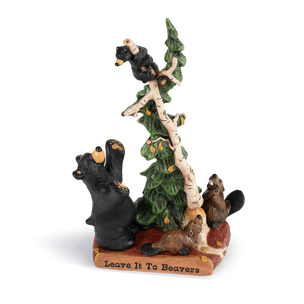 Bearfoots Bears Leave it to Beavers figurine