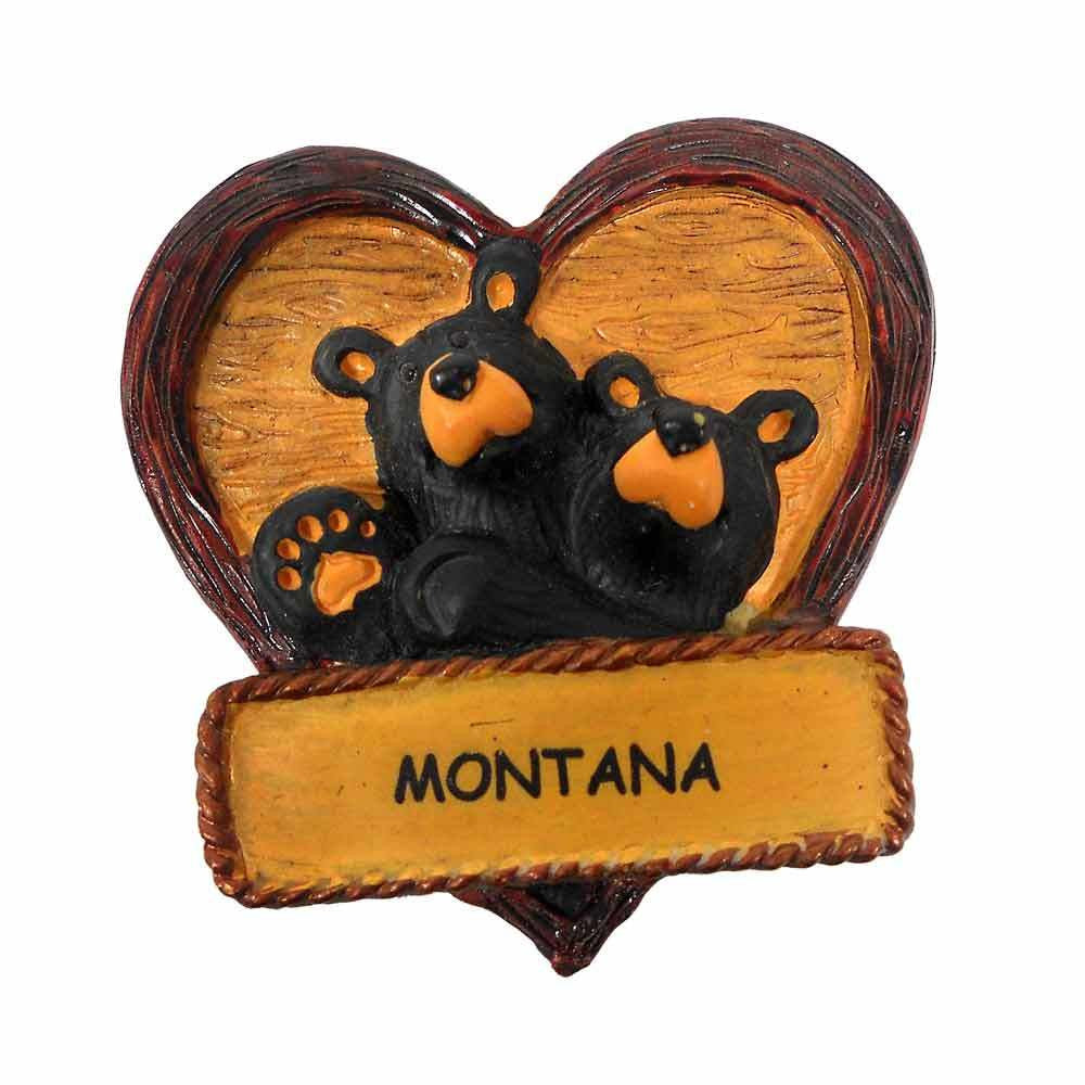 Bearfoots Lovey Dovey Bear Montana Ornament Big Sky Carvers