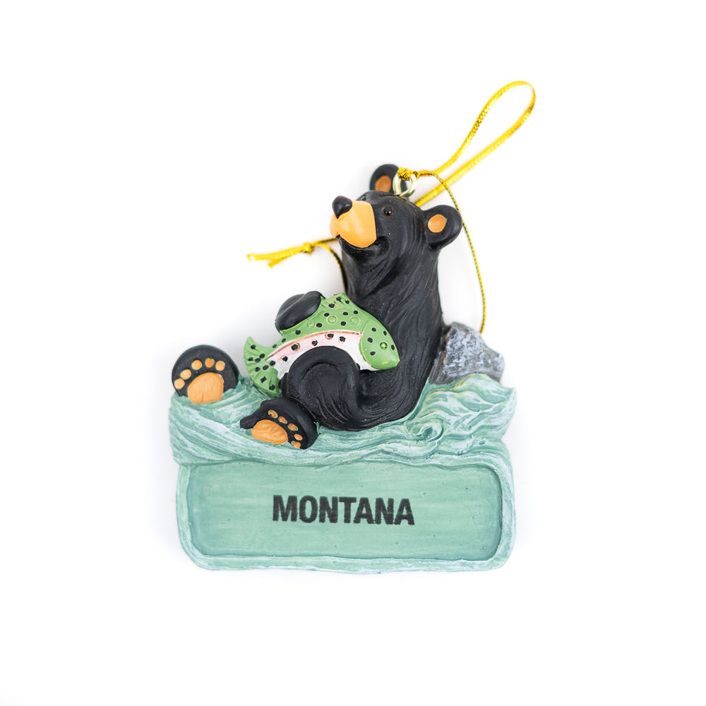 Bearfoots Nice Catch Montana Ornament