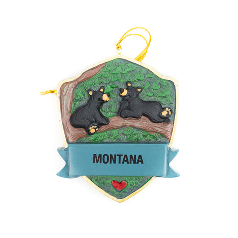 Bearfoots Out on a Limb Montana Ornament by Big Sky Carvers