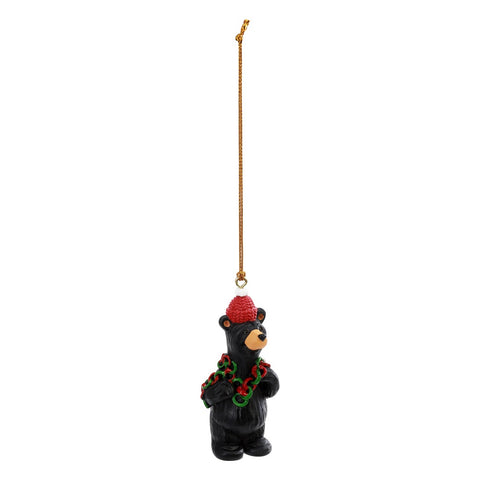 The Bearfoots Paper Chain Countdown Ornament by Jeff Fleming brings this tradition to your home. This cute little bear is wearing a red knitted hat holding a colored paper chain around his shoulders, bringing you the gift of innocent Christmas fun!