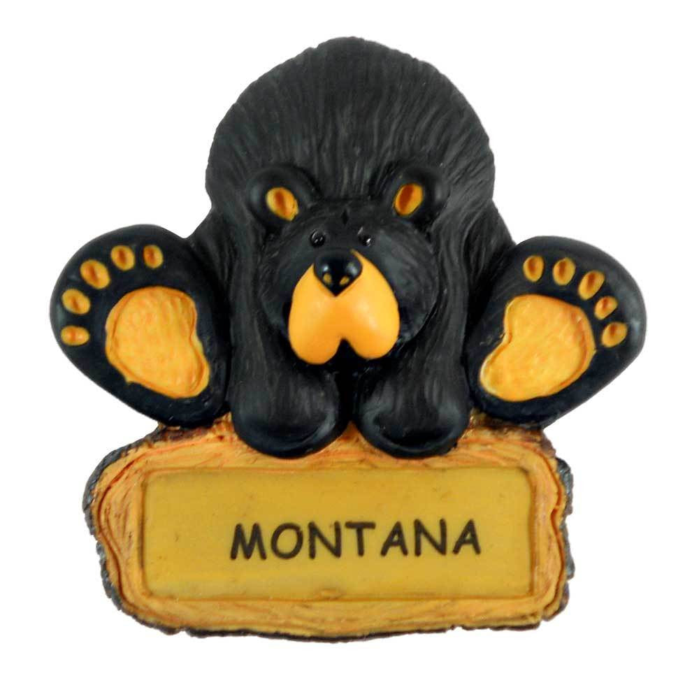 Bearfoots Playful Bear Montana Magnet by Big Sky Carvers