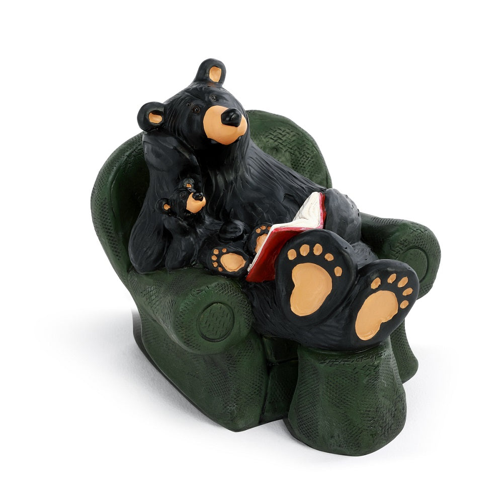 The Bearfoots Reading Bear Figurine by Jeff Fleming depicts the heartfelt scene that many of us know so well.