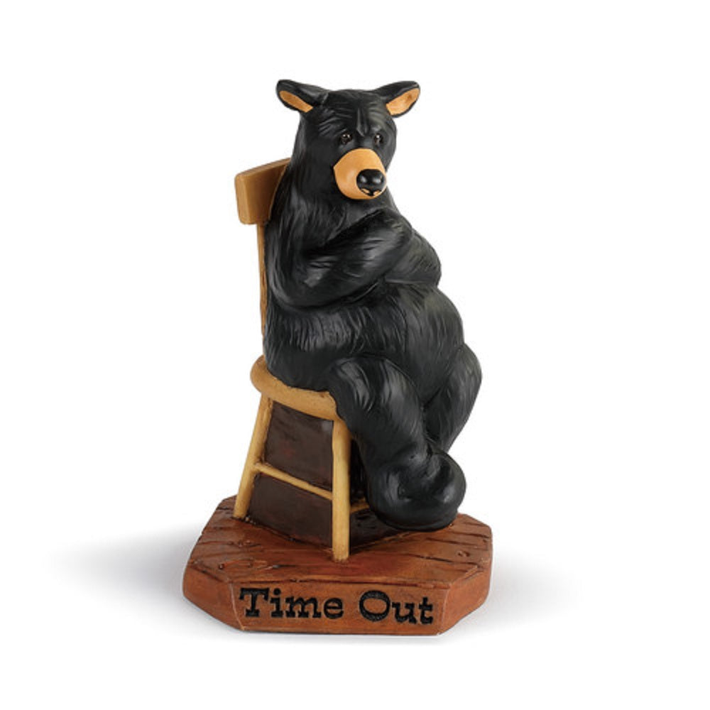 Bearfoots Bear in Time Out Figurine by Jeff Fleming from Big Sky Carvers and Demdaco