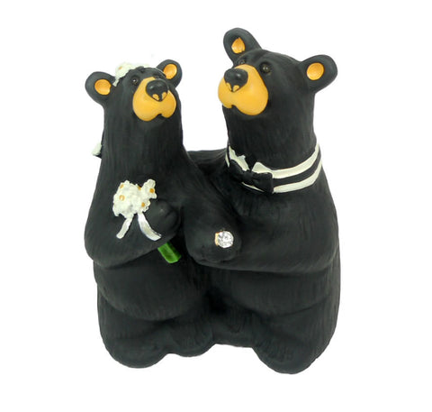 Bearfoots Wedding Couple Bear Figurine by Big Sky Carvers