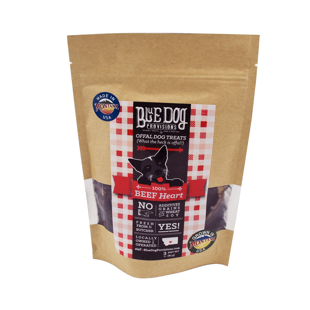 Beef Heart Dog Treats by Blue Dog Provisions