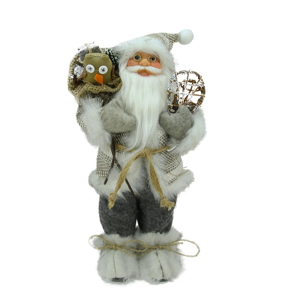 Beige & Grey Alpine Santa with Snowshoes and Gift Bag by Northlight Season