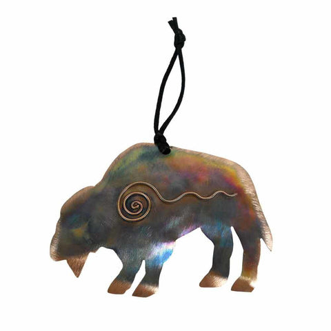 Bison with Swirl Ornament