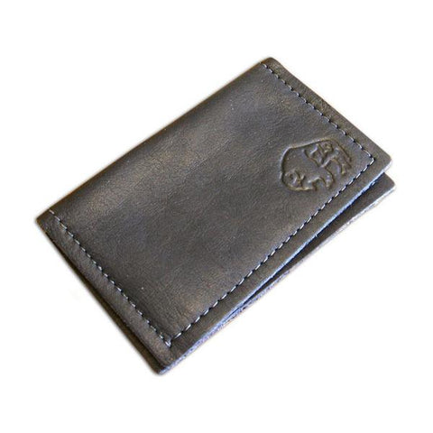Black 2-Pocket Leather Card Case by The Leather Store