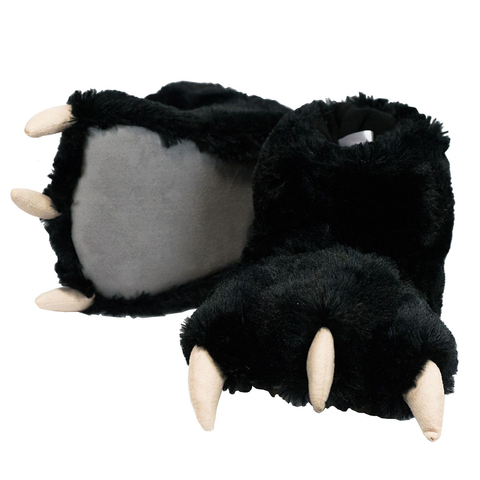 Black Bear Paw Slippers by Lazy One